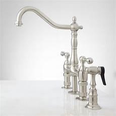kitchen bridge faucets bellevue bridge kitchen faucet with brass sprayer lever handles kitchen