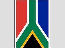 Vlag van Zuid Afrika kleurplaat   Gratis kleurplaten