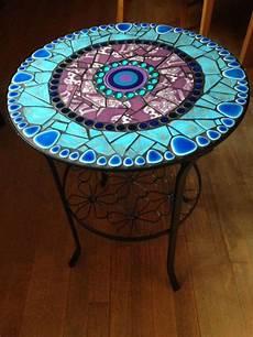 Mosaiktisch Mit Herausnehmbarer Glasplatte Die Platte