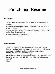 chronological and functional resume project