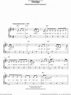 jackson thriller sheet music for piano solo pdf