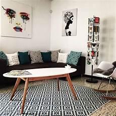 Salon Inspiration Scandinave Avec Table Basse Pieds Compas