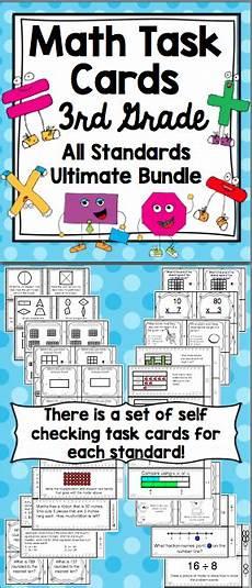 3rd grade math task cards 3rd grade all math standards bundle third grade think tank math