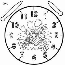 Schule Und Familie Ausmalbilder Ostern Kostenlose Malvorlage Uhrzeit Lernen Ausmalbild Ostereier