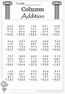 worksheets addition with 4 digit addends 9152 three digit column addition 4 addends worksheets
