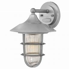 elstead lighting marina outdoor single light small wall fitting in hematite finish with ribbed
