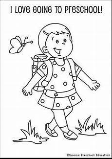 free my first day of school coloring page i love this