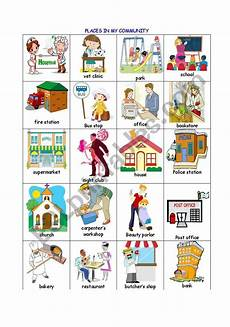 places in community worksheets 15955 places in the community esl worksheet by evaramos