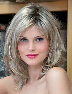 Layered Hairstyles For Oval Faces layered wavy hairstyles for oval faces medium