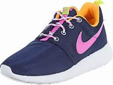 nike roshe one youth gs shoes blue pink