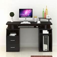 pc computer desk table workstation monitor printer shelf