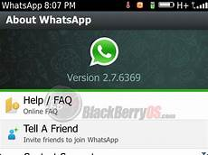 whatsapp messenger for blackberry updates v2 7 6369 via