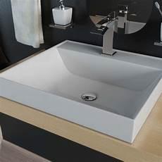 mineralguss waschbecken reparieren design mineralguss waschbecken waschtisch aufsatzwaschbecken 50cm kb m50 ebay