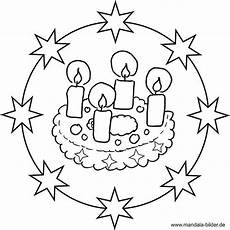 Ausmalbilder Weihnachten Mandalas Adventskranz Mandala Ausmalbild Ausmalbilder Weihnachten