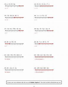 solving multi step inequalities worksheet answers