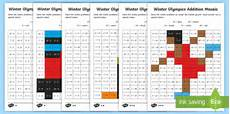 Ks1 Winter Olympics Addition And Subtraction Mosaic