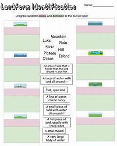 identifying landforms interactive worksheet