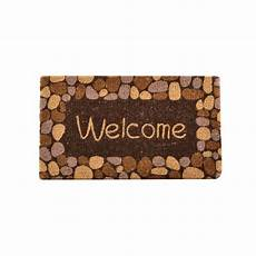 6 Ft Door Mat by Hometrax Designs Outdoor Welcome River Rocks 1 Ft 6 In X