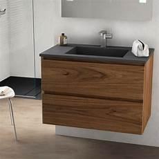 meuble lavabo en bois cordoue meuble salle de bain bois noyer 81 cm vasque