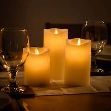 candele led a batteria 3 wax led flickering candle lights flameless