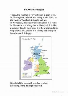 weather reading comprehension worksheets 14512 uk weather report worksheet free esl printable worksheets made by teachers