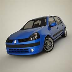 Renault Clio 2004 Sport 3d Model Flatpyramid