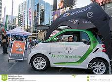 smart cars promotional display in dundas square editorial image 41007847