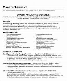 free 9 sle quality assurance resume templates in ms