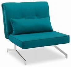 Fauteuil Convertible Bz Lit 1 Personne Bleu Turquoise