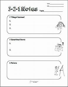 3 2 1 note taking graphic organizer squarehead teachers