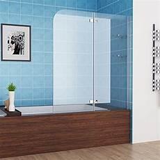 Duschtrennwand Badewanne Glas - 120 x 140 cm badewannen 2 tlg faltwand duschwand
