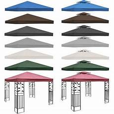 3x3m garden gazebo top cover roof replacement tent canopy fabric 2 tier 1 tier ebay