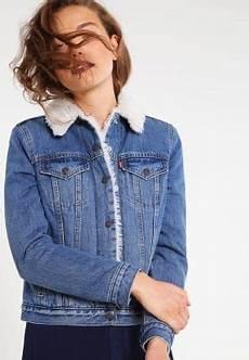 veste en jean mouton femme levi s 174 vintage sherpa trucker veste en jean blue