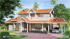 new model house kerala style 65 small two slopping style tiles roof house in 2300 sq feet indian