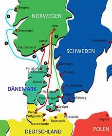 fähre hirtshals kristiansand wohnmobil anreise norwegen f 228 hre flugzeug und bahn
