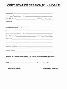 Certificat De Cession Par Macer Fichier Pdf