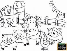 simple farm animals coloring pages 17459 farm animals free teaching tool printable agricultural coloring page for http f