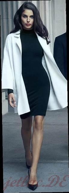 Schwarzes Kleid Kombinieren 2020 Frauen Damen Jetlac
