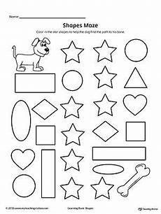 shapes pattern worksheets kindergarten 1167 shape maze printable worksheet şekil eğitim okuma