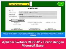 aplikasi kwitansi bos 2017 gratis dengan microsoft excel aplikasi bos