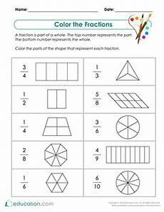 2nd grade fractions worksheets free printables education com