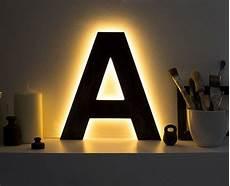 wooden letter lighted a decorative letter light by botanikastudio 118 00 light letters