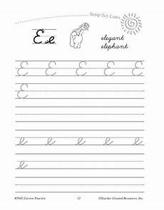 cursive writing worksheets for grade 2 teacher created resources ready learn cursive writing practice grade 2 3 tcr5942 supplyme