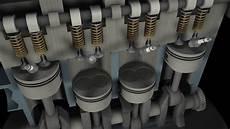4 zylinder 8v motor animation