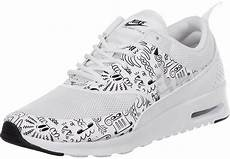 nike air max thea print w shoes white black