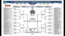 2016 march madness sheets for ncaa basketball tournament bracket youtube