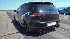 volkswagen golf 7 r hpt stage 2 with akrapovic exhaust