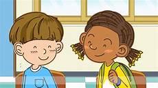Gambar Kartun Anak Sedang Belajar Top Gambar