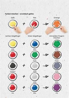 wie mischt man rot braune farbe mischen mit kreul 29100 mucki fingermalfarben