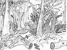 Gambar Mewarnai Pemandangan Hutan